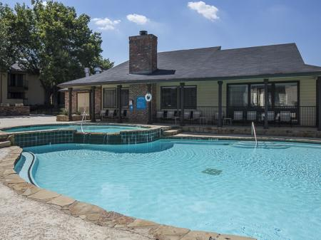 Relaxing Pool | Kensington Station Apartments Homes in Bedford, TX