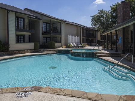 Resident Swimming Pool | Kensington Station Apartment Homes in Bedford, TX