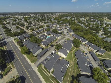 Aerial View of Kensington Station Apartment Homes in Bedford, TX