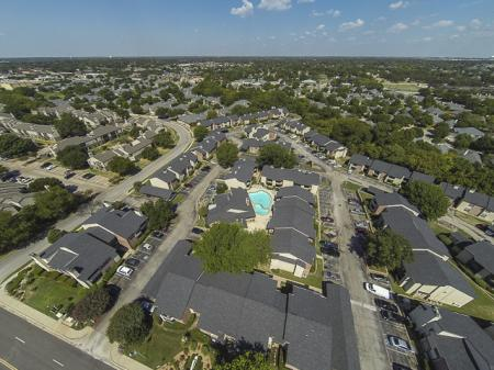 Aerial Image of the Kensington Station Apartment Homes Bedford, TX