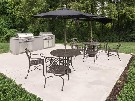 Grilling Patio | Landmark at Chesterfield Apartment Homes in Pineville, NC