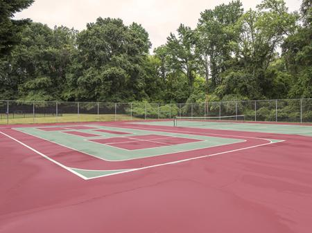 Tennis Court | Landmark at Chesterfield Apartment Homes in Pineville, NC