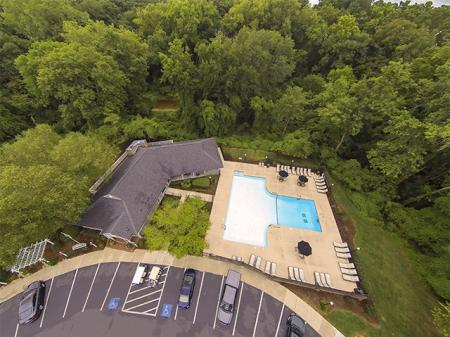 Aerial View of Landmark at Chesterfield Apartment Homes in Pineville, NC