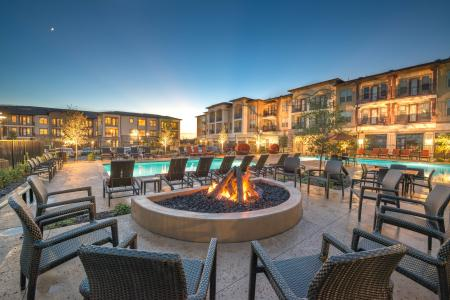 The Nexus Lakeside | Apartments for Rent in Flower Mound, TX | Pool Side Fire Pit
