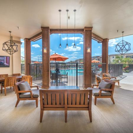 The Nexus Lakeside | Apartments for Rent in Flower Mound, TX | Outside Lounge