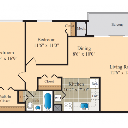 Avondale Station Apartments: 1 Bed / 1 Bath Apartment In Landover MD