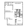2D Floor Plan image 1 for the The Cottonwood Floor Plan of Property Stone Forest Apartments