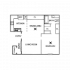 2D Floor Plan image 1 for the Embassy Floor Plan of Property Chase Crossing Apartments