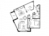 Corner unit w/ extra large windows-9 foot+ ceilings-Stainless steel appliances-Wood plank floors-Extra large quartz kitchen island-Granite countertops in baths -Full-size washer and dryer-Large patio or deck