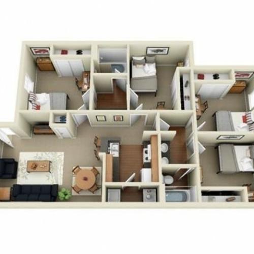 4 bedroom apartment Sacramento