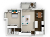 1 Bedroom 1 Bath Apartment