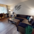 The Claremont Floorplan - Living Room with furniture