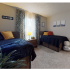 The Claremont Floorplan - Bedroom with two beds