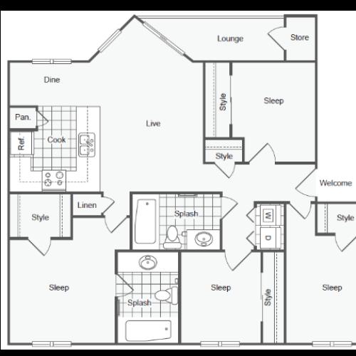 D1 Floor Plan