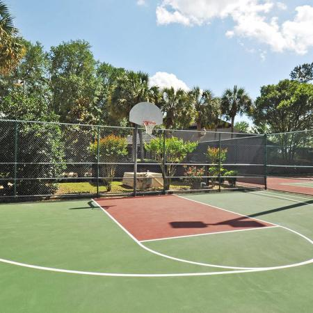 Half basket ball court.