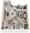 Appaloosa II 1 bedroom 1 bathroom floor plan