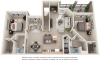 Palomino 2 bedrooms 2 bathrooms floor plan