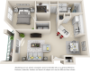 Milano 1 bedroom 1 bathroom floor plan
