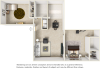 Carlyle floor plan with 2 bedrooms and 2 bathrooms