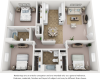 Juniper floor plan with 3 bedrooms and 2 bathrooms