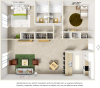 Bluegill floor plan with 2 bedrooms, 2 bathrooms and wood style flooring