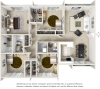 The Palm 4 bedrooms 2.5 bathrooms floor plan