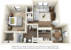 Dogwood 1 bedroom 1 bathroom floor plan