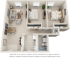 Mulberry 2 bedrooms 1 bathroom floor plan