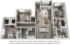 Churchill 3 bedrooms and 2 bathrooms floor plan