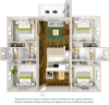 Seneca Deluxe 4 bedrooms 4 bathrooms floor plan