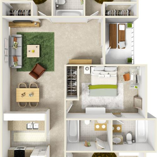 The Bulls Enhanced 4 bedrooms 4 bathrooms floor plan Suite with wood style flooring