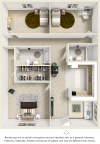 Bowden 3 bedroom 1 bathroom floor plan