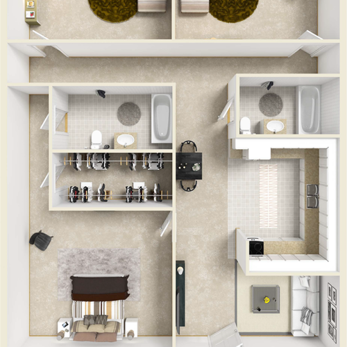 Bowden 3 bedroom 2 bathroom floor plan