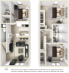 3x3 Townhome floor plan
