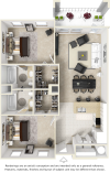 2 Bed 2 Bath - Haven