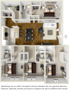 The Eagle 4 bedrooms 4 bathrooms floor plan upgraded