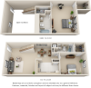 Tribecca 2 bedrooms 2 bathrooms floor plan