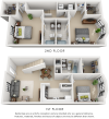 Grammercy 3 bedrooms 3 bathrooms floor plan
