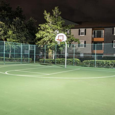 Lexington Crossing basketball court with hoop