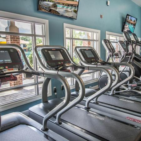Lexington Crossing fitness center with stationary bikes, treadmills and elliptical machines