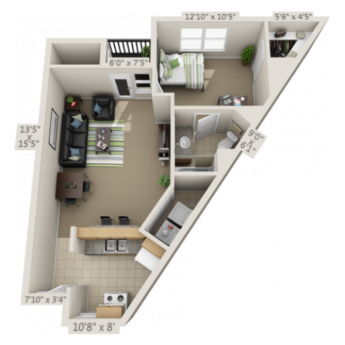 The Estates A1 floor plan with Premium Finishes