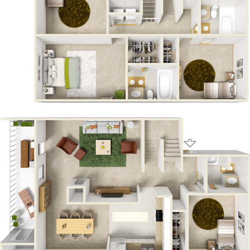 Hyacinth 4 Bedroom 3 Bathroom Floor Plan