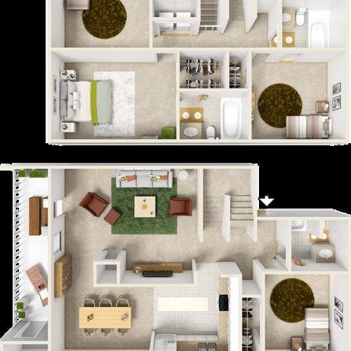 Hyacinth 4 Bedroom 3 Bathroom Floor Plan