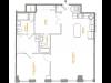 1 Bedroom Floor Plan | The Cliffs