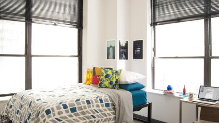 Spacious College Bedrooms, full size mattress