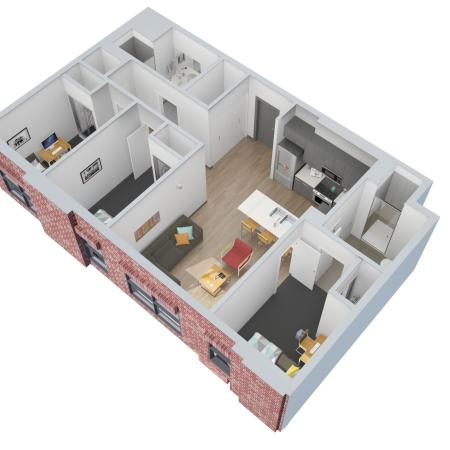 3 Bedroom 2 Bathroom Apartments