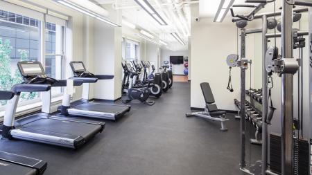 Work Out Center, Fitness Center, Weight Machines, Free weights, elliptical, treadmill, yoga