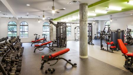Fitness Center, Weight Machines, Free weights
