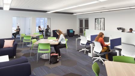 computer, homework, printing, private and group study rooms, conference