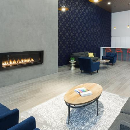 fire place, coffee bar, lobby